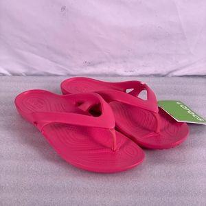 CROCS Kadee II Paradise Pink Flip Flop Sandals